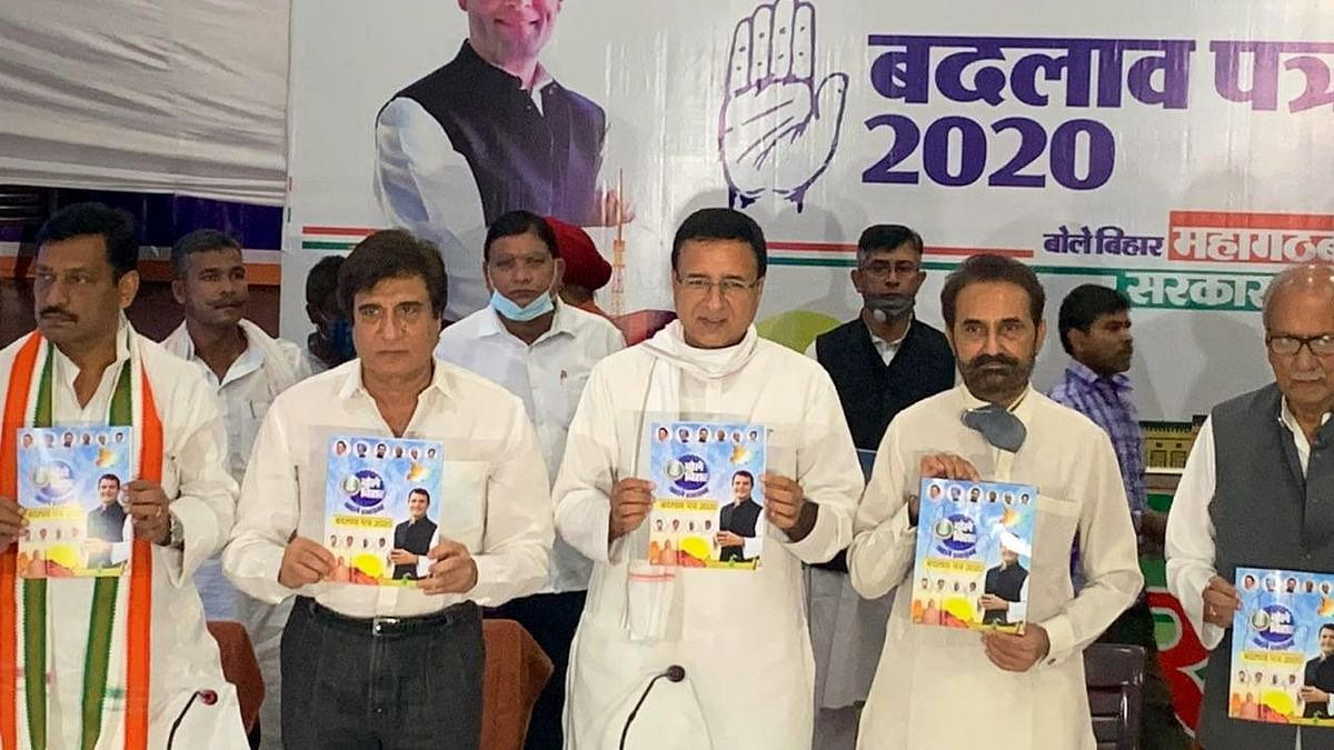 The Congress manifesto for the upcoming Bihar Assembly elections promised free education for girls, access to clean drinking water, besides farm loan waiver and electricity bills waiver.