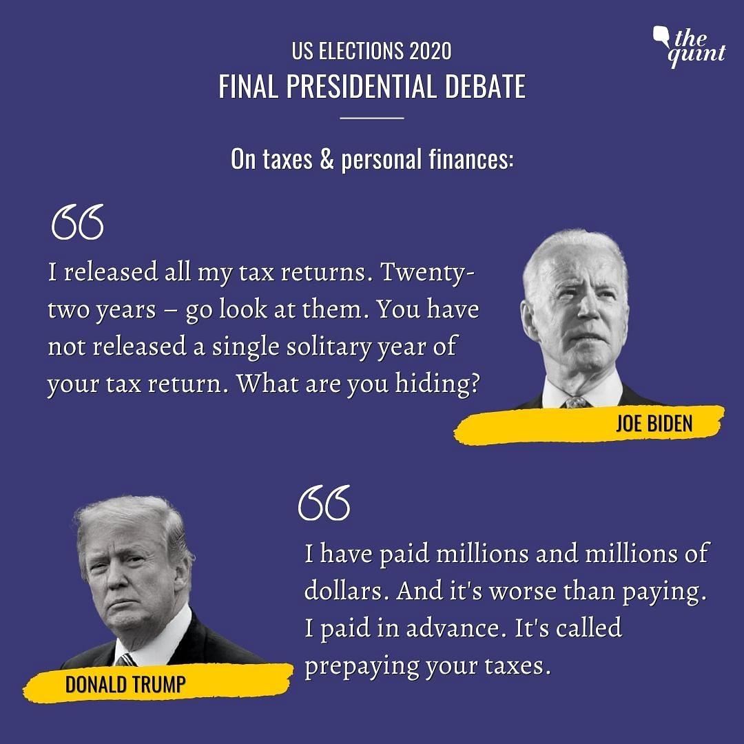 India's Air is Filthy: Trump Spars With Biden in Final Prez Debate