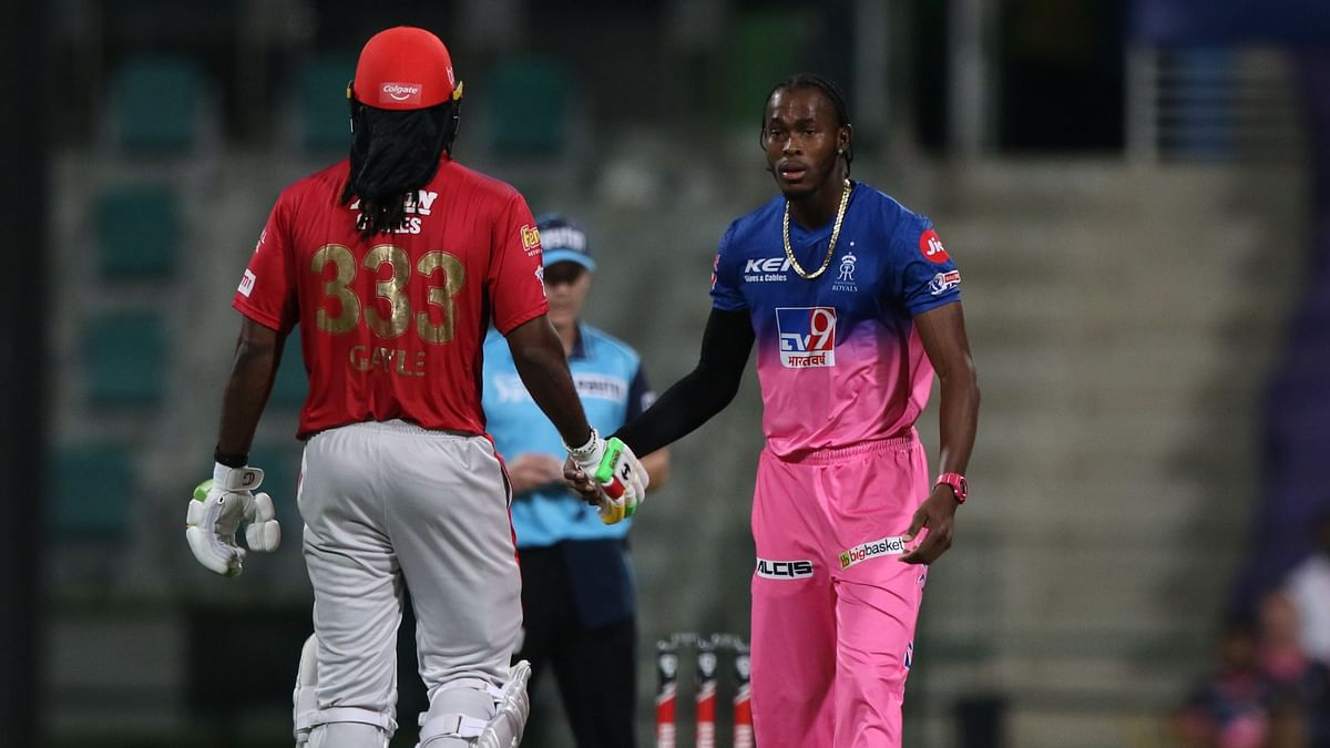 Even though Gayle missed his century, he showed sportsmanship by congratulating Archer for taking his wicket.