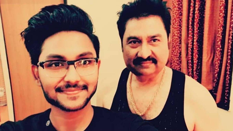 Kumar Sanu with his son Jaan.