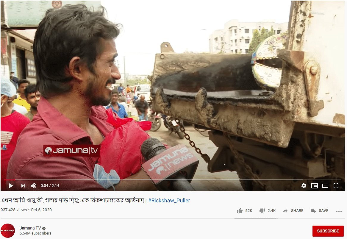 Rickshaw Puller Seen Crying in Video is From Bangladesh Not India
