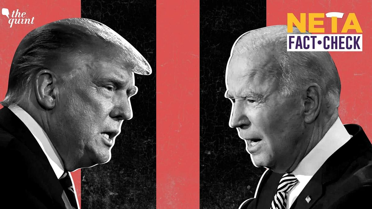 US Presidential 2020 Debate Fact Check: US President Donald Trump and former Vice-President Joe Biden.