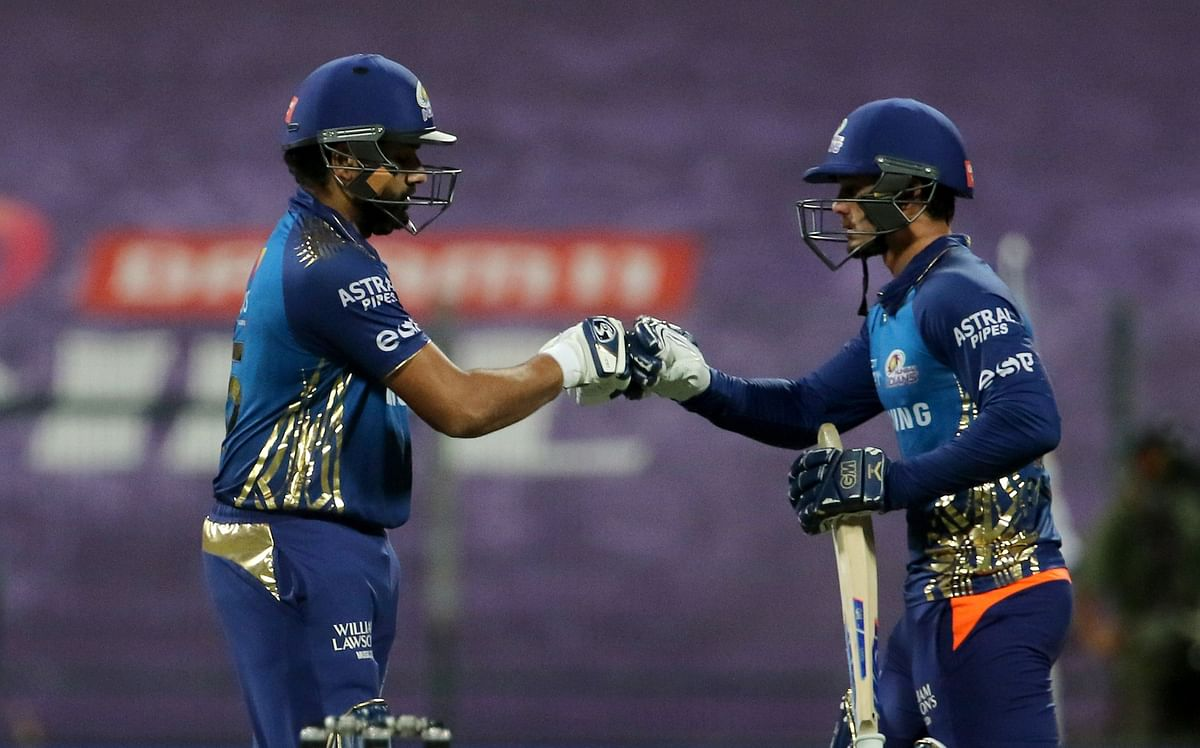 Wicketkeeper-batsman Quinton de Kock and captain Rohit Sharma stitched a 94-run opening stand.