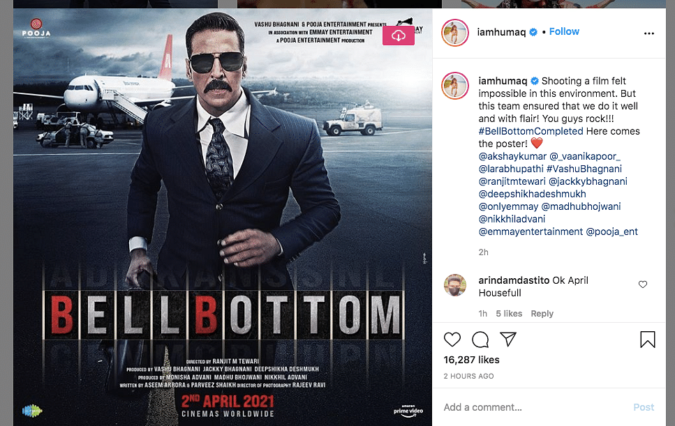 Akshay Shares New 'Bell Bottom' Poster As Film Wraps Shoot