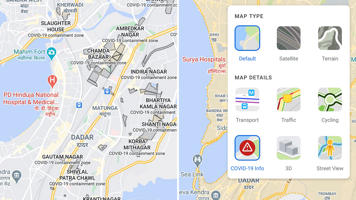 How to View COVID-19 Containment Zones in Mumbai via Google Maps