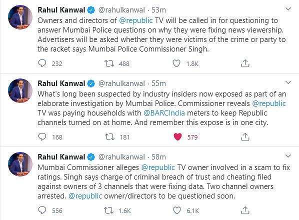 'Republic TV's TRP Scam' Busted by Mumbai Cops, Journalists React