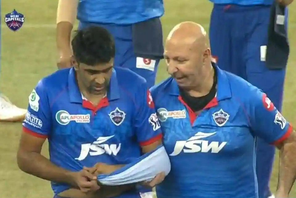 Delhi Capitals' Ravichandran Ashwin dislocated his shoulder only after his first over in the first game for his side.