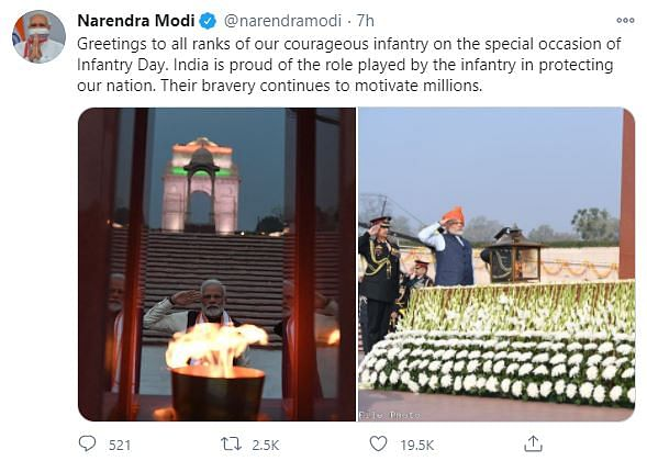 CDS Rawat, Army Chief Observe Infantry Day; PM Modi Praises Valour