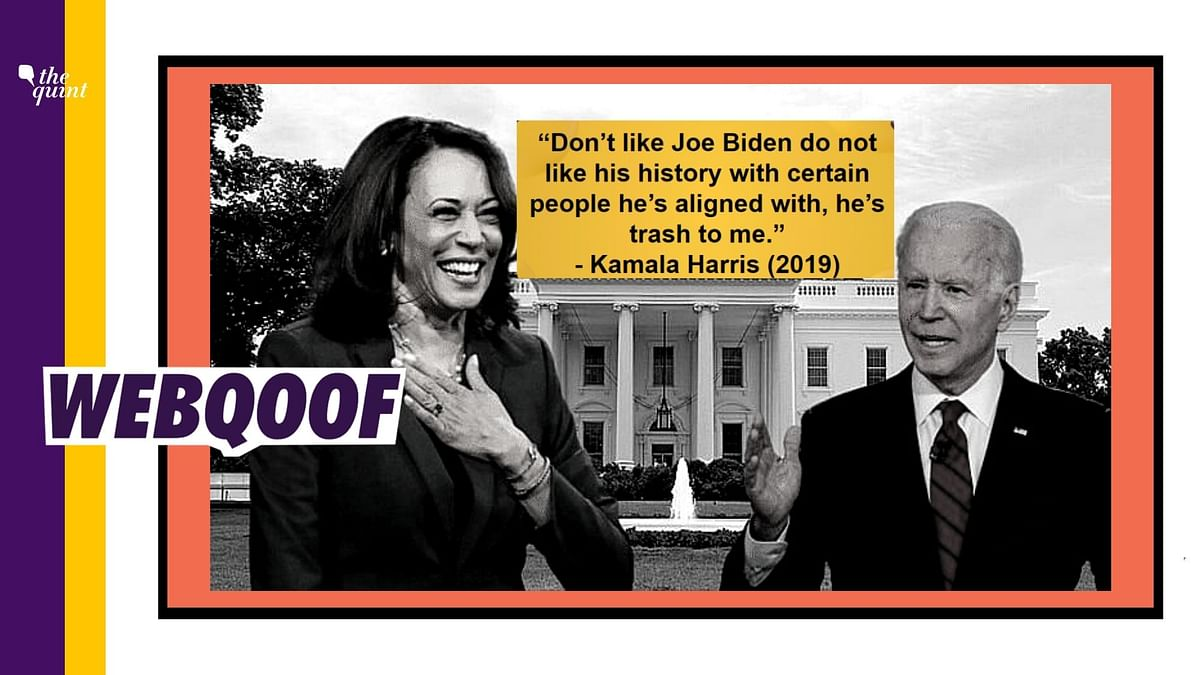 No, Kamala Harris Did Not Call US Prez Candidate Joe Biden 'Trash'