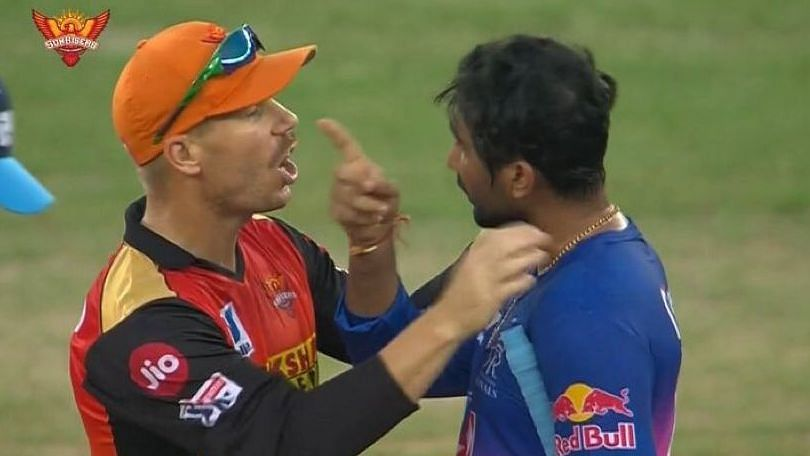 David Warner resolves the tiff with Rahul Tewatia which he and Khaleel had in the last over of the game