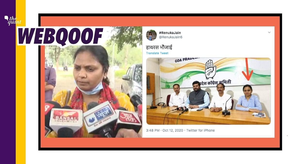 Congress member Pratibha Borkar has been falsely identified as Dr Rajkumari Bansal who has been alleged as Hathras victim's 'Naxalite bhabhi.'