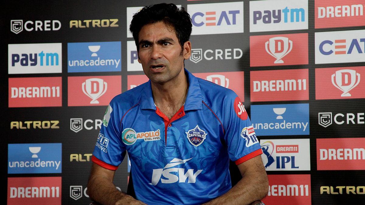 Delhi Capitals assistant coach Mohammad Kaif during a press conference.