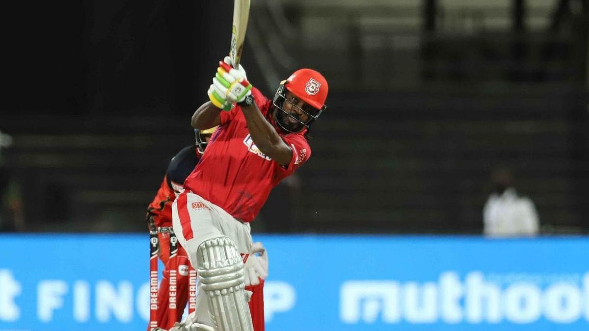 Kings XI Punjab batsman Chris Gayle hit 53 runs off 45 balls before getting run-out