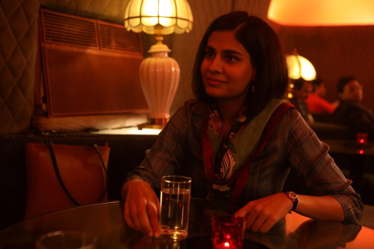 Shreya Dhanwanthary plays journalist Sucheta Dalal.