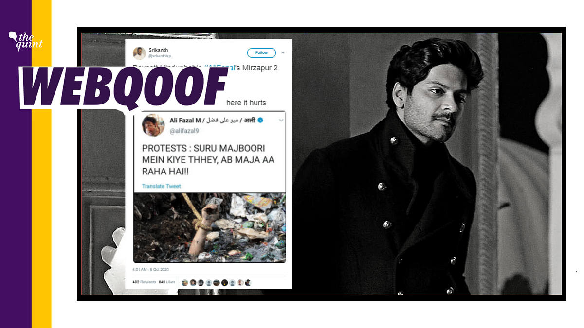An edited tweet of actor Ali Fazal is doing rounds on social media in a boycott campaign against web series, Mirzapur 2.