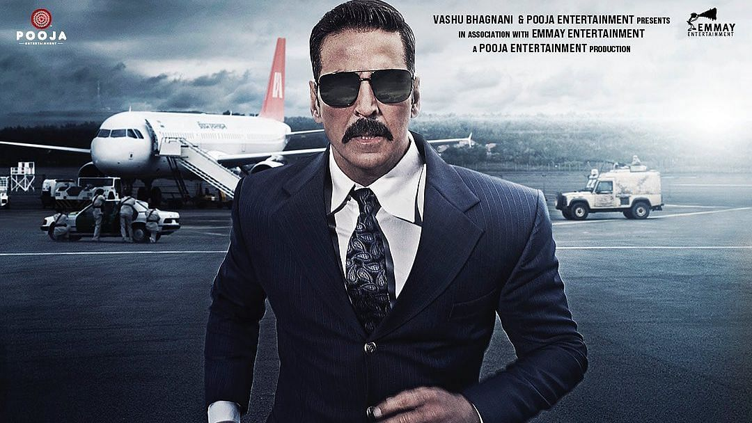 Akshay Kumar in a poster from Bell Bottom.