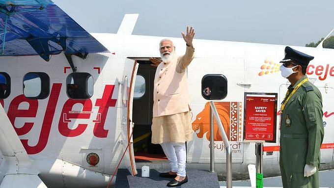 PM Modi Launches Sea Plane in Guj, Takes First Ride from Sabarmati