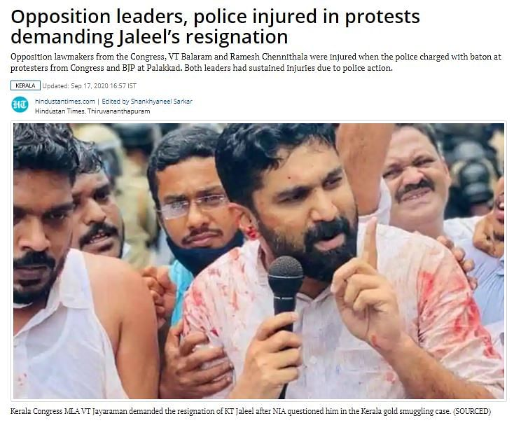 Images From Cong Protests in Kerala Shared as Farmers' Agitation