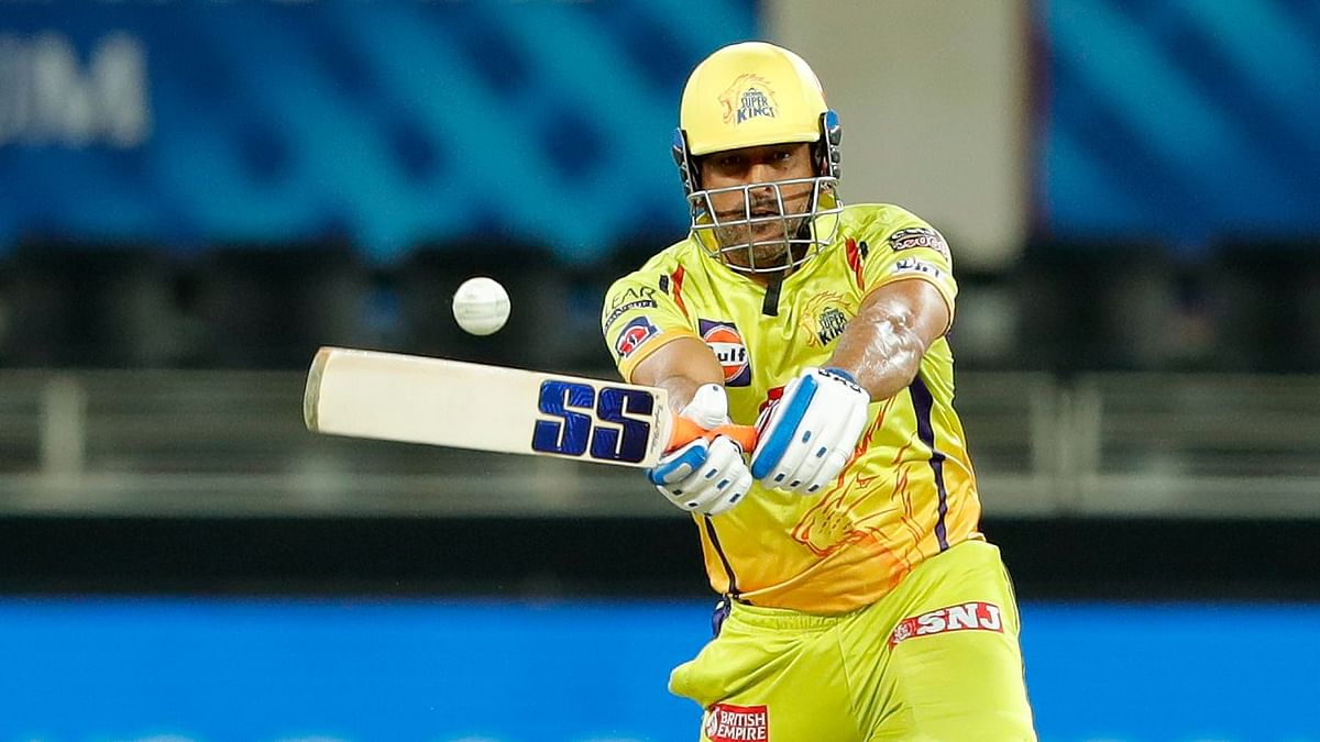 MS Dhoni scored a 13-ball 21 which included two boundaries and one six.