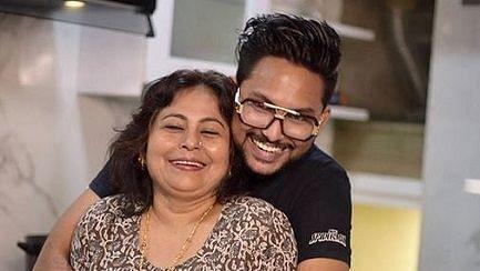Jaan Kumar Sanu with his mother Rita Bhattacharya.