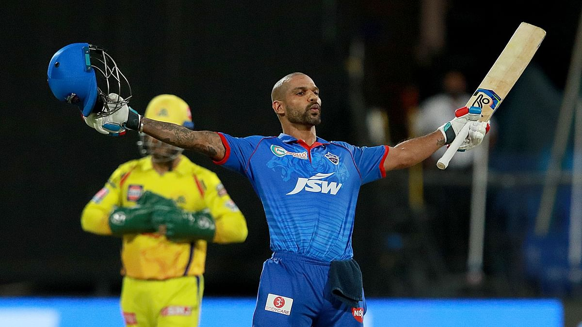 Opener Shikhar Dhawan smashed his maiden century in the Indian Premier League as Delhi Capitals defeated Chennai Super Kings.