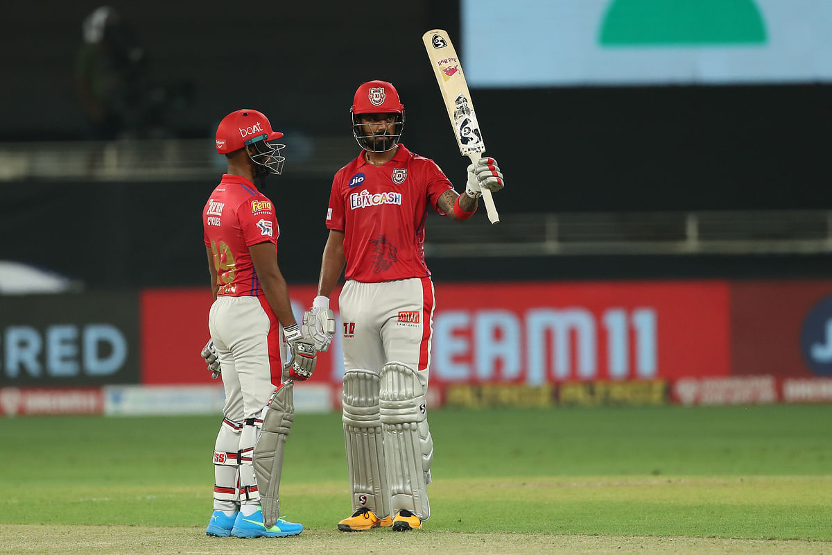 KL Rahul and Nicholas Pooran stitched a 58-run partnership before Shardul Thakur took two wickets in two balls to dismiss both the batsmen.