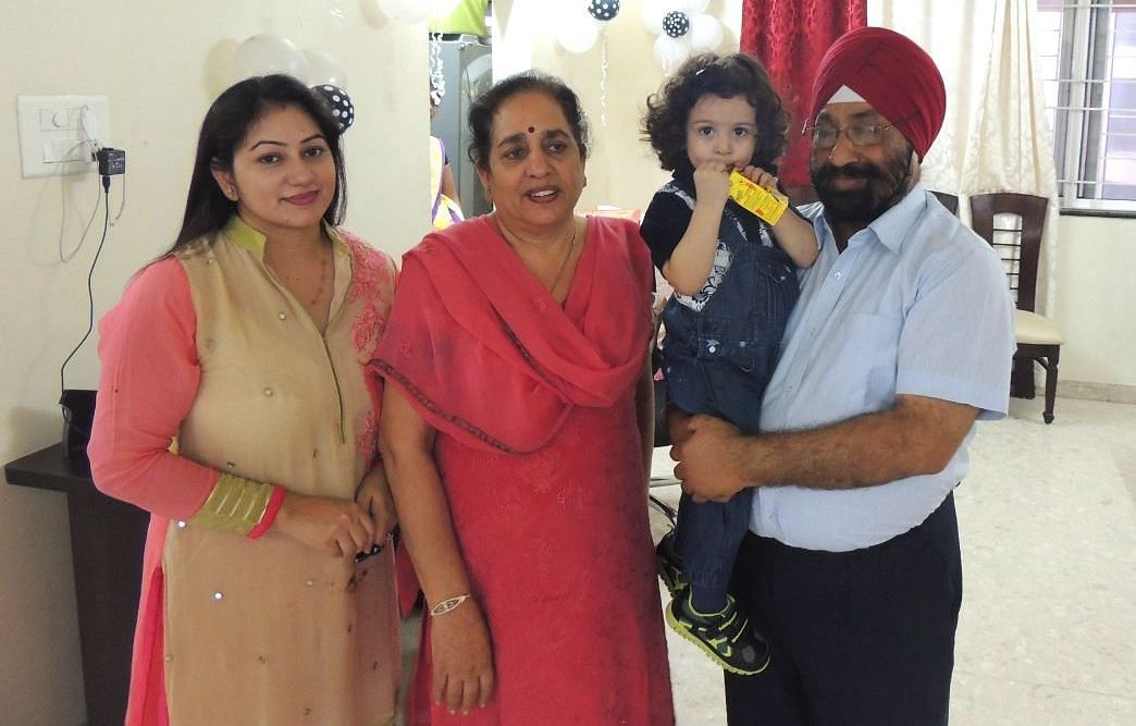 Amarpreet Kaur with her late father Lakhjeet Singh.