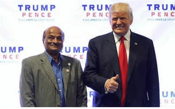 Hemant Bhatt and Trump.