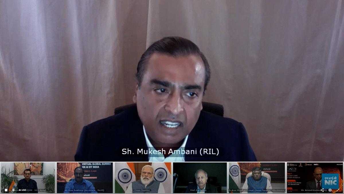 Mukesh Ambani speaks at the inauguration of RAISE 2020 AI Summit