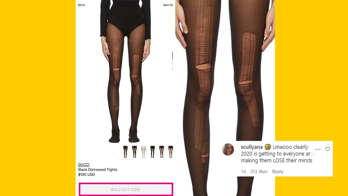 Netizens React Gucci's 'Distressed Tights' Being Sold for INR 14K