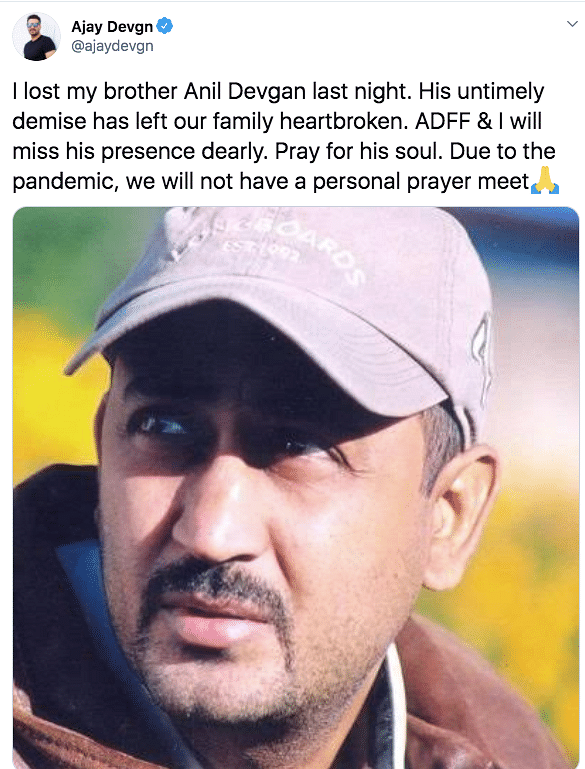Ajay Devgn's brother Anil passes away.