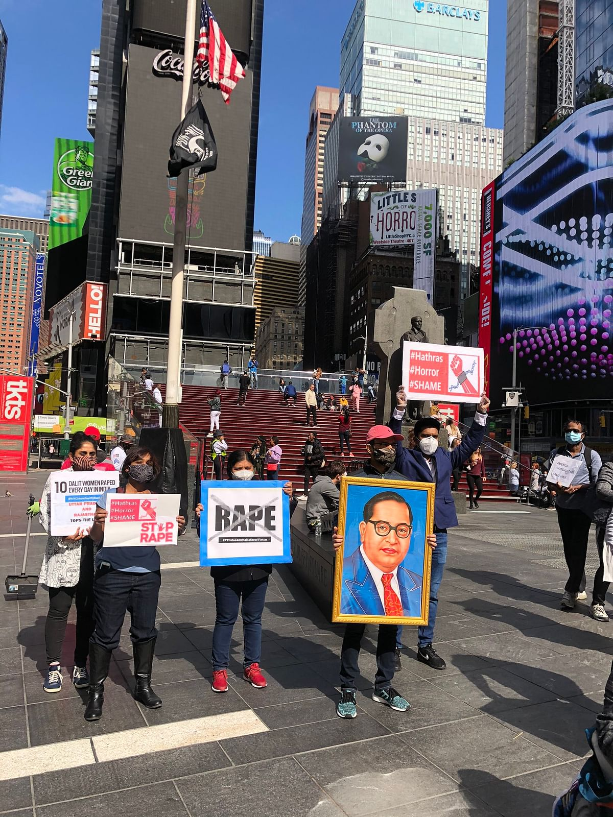 Dalit Lives Matter protest in New York.