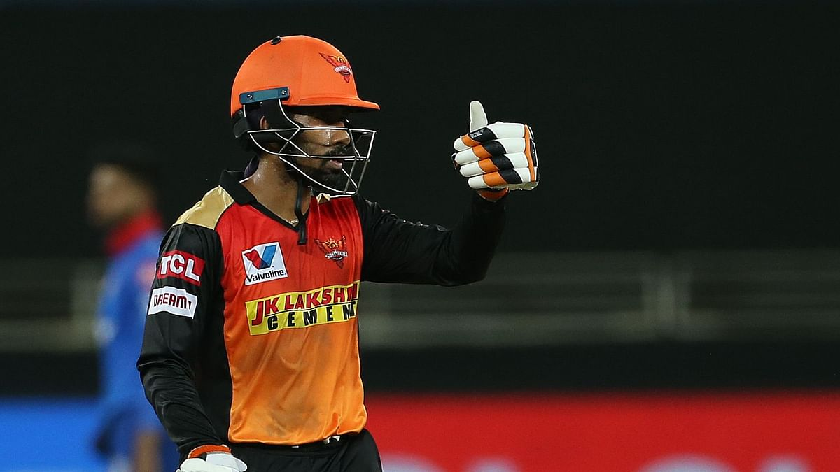 Wriddhiman Saha scored 87 while opening for SRH against DC.