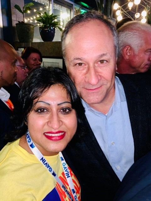 Harini Krishnan, Democratic Organiser, and Kamala Harris husband Douglas Emhoff.