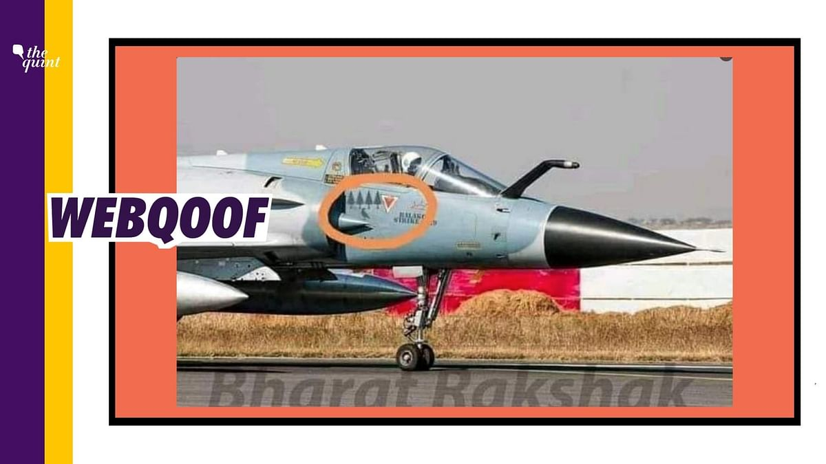A morphed image was circulated to falsely claim that the Indian Air Force used symbols on a fighter jet to take a dig at Pakistanis, who claimed that trees and a crow were the casualties in the Balakot airstrikes.