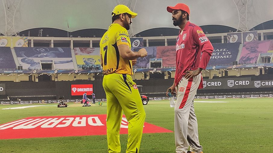 Chennai Super Kings skipper MS Dhoni was seen talking to Kings Xi Punjab batsmen KL Rahul and Mayank Agarwal.