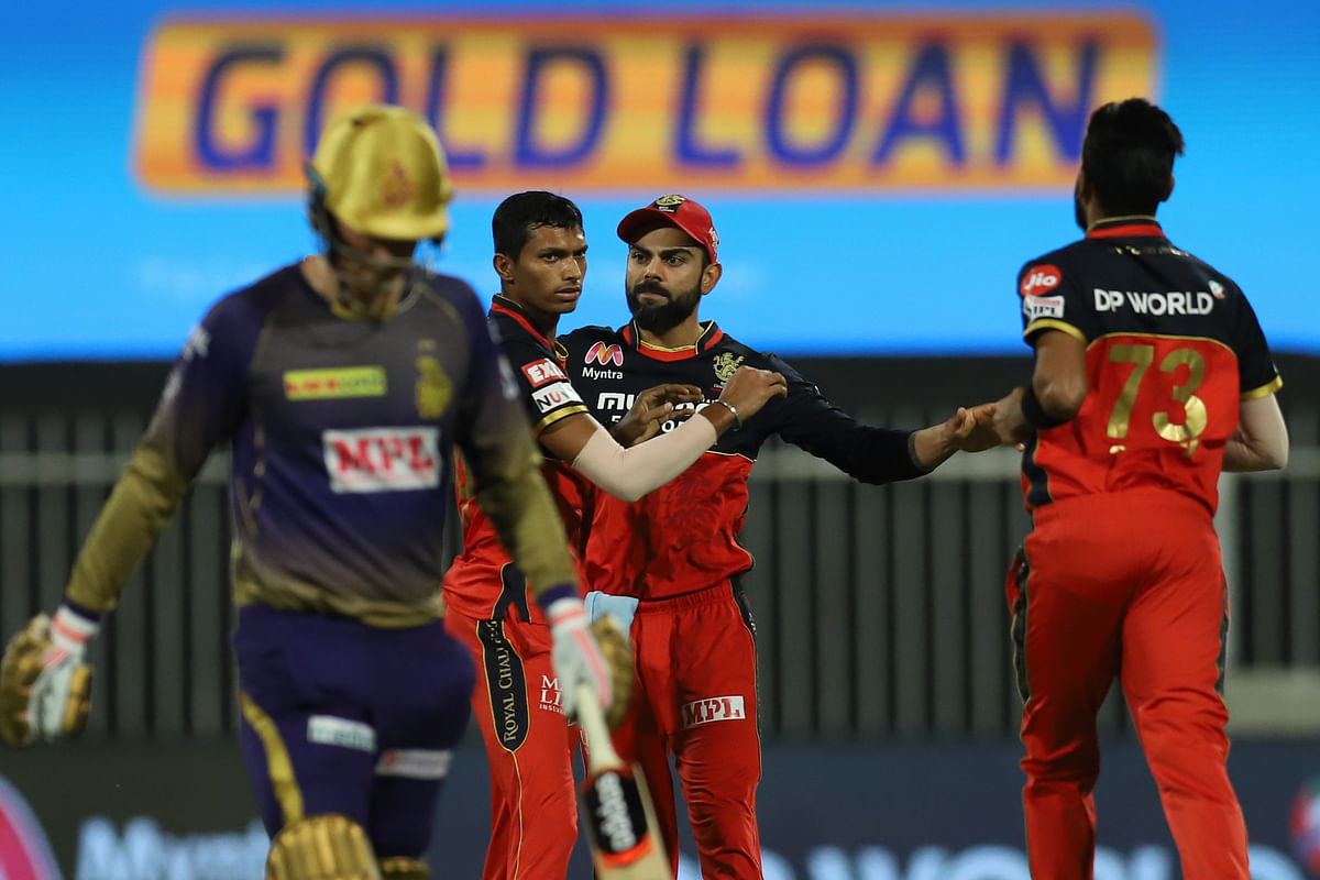 Opener Tom Banton, making his IPL debut, was castled by Navdeep Saini for 8.