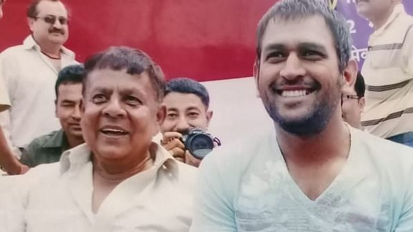 Dhoni's Ranchi-based mentor Deval Sahay returned home on Friday after spending 40 days in hospitals.