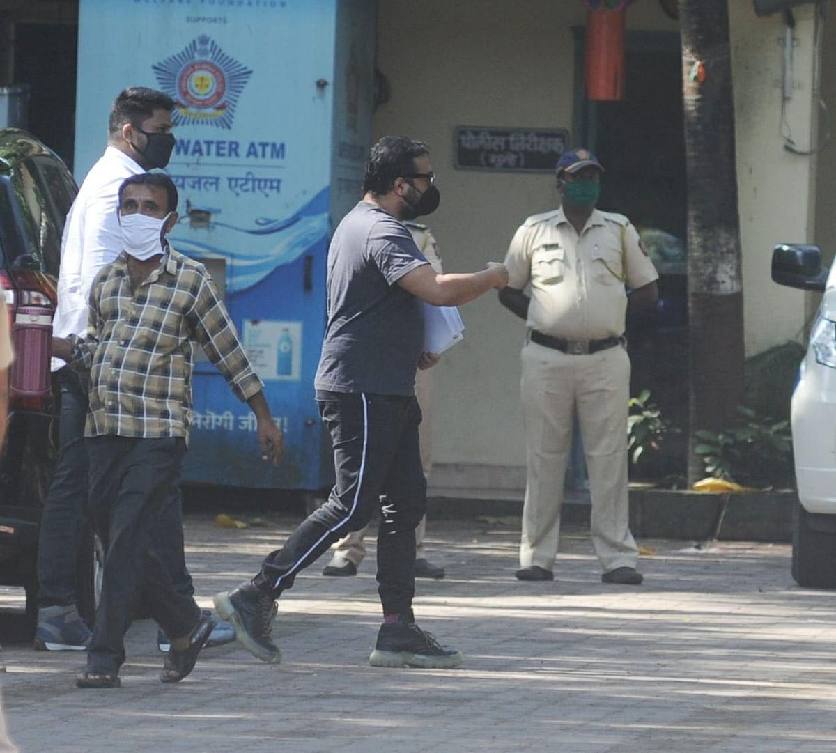 Anurag Kashyap at Mumbai's Versova Police Station.