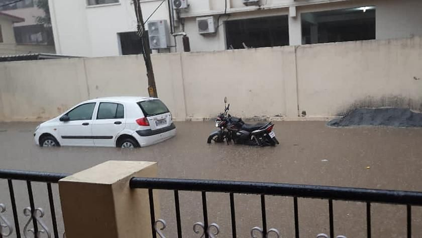 Parts of Bengaluru were flooded due to heavy rains.