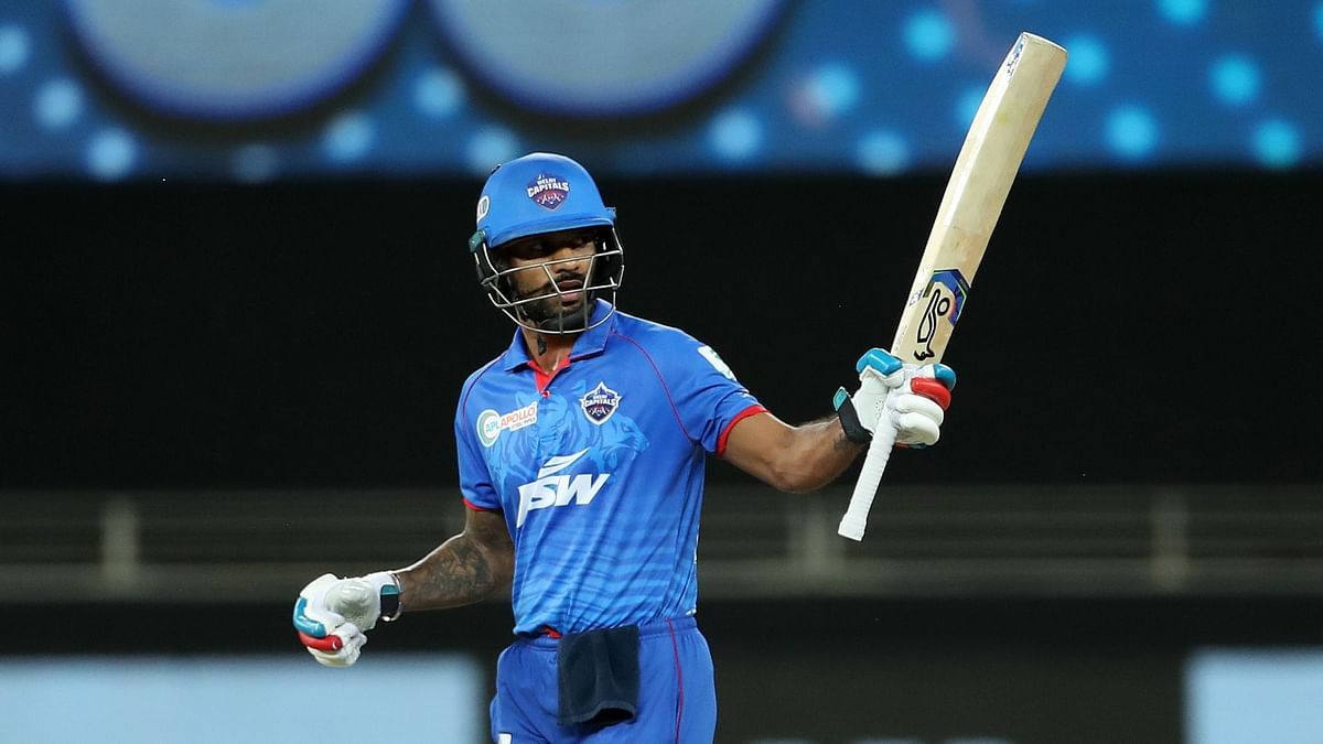 Dhawan reached the fifty-run mark off 30 deliveries, and notched a 33-ball 57