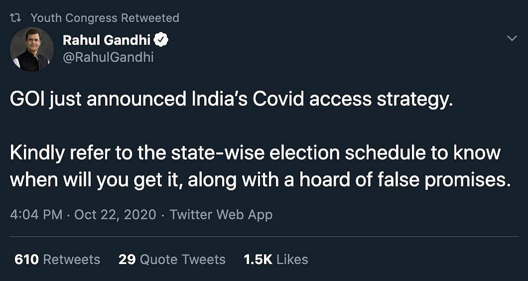'Blatant Populism': Oppn on BJP's COVID Vaccine Promise for Bihar