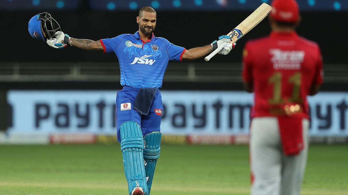 IPL: Dhawan's Record Ton Propels Delhi Capitals to 164/5 vs KXIP