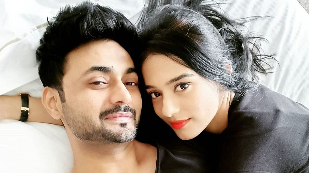 Amrita Rao and Anmol.
