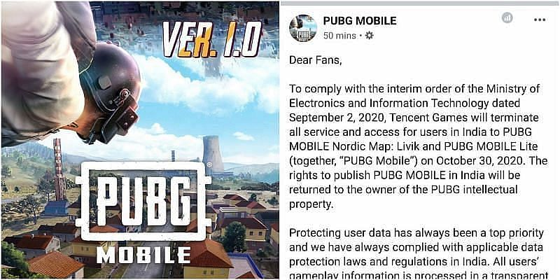 PUBG Mobile Will Stop Working in India from 30 Oct, Co Confirms