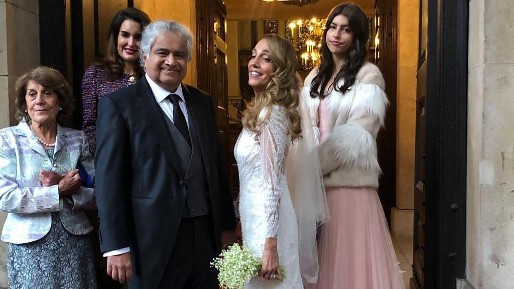 India's former Solicitor General, advocate Harish Salve exchanged wedding vows with Caroline Brossard, a London-based artist of French-Spanish descent.