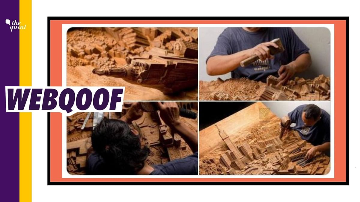 Several users on social media shared images of woodwork by an artisan with a claim that they were carved by an artist named Gulfam from Saharanpur in Uttar Pradesh.