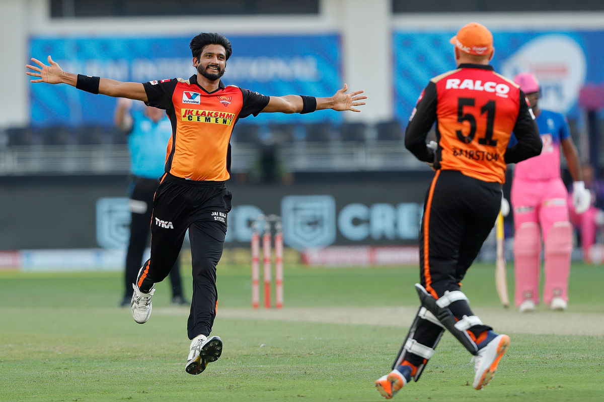 Khaleel Ahmed picked up two wickets in the Powerplay.