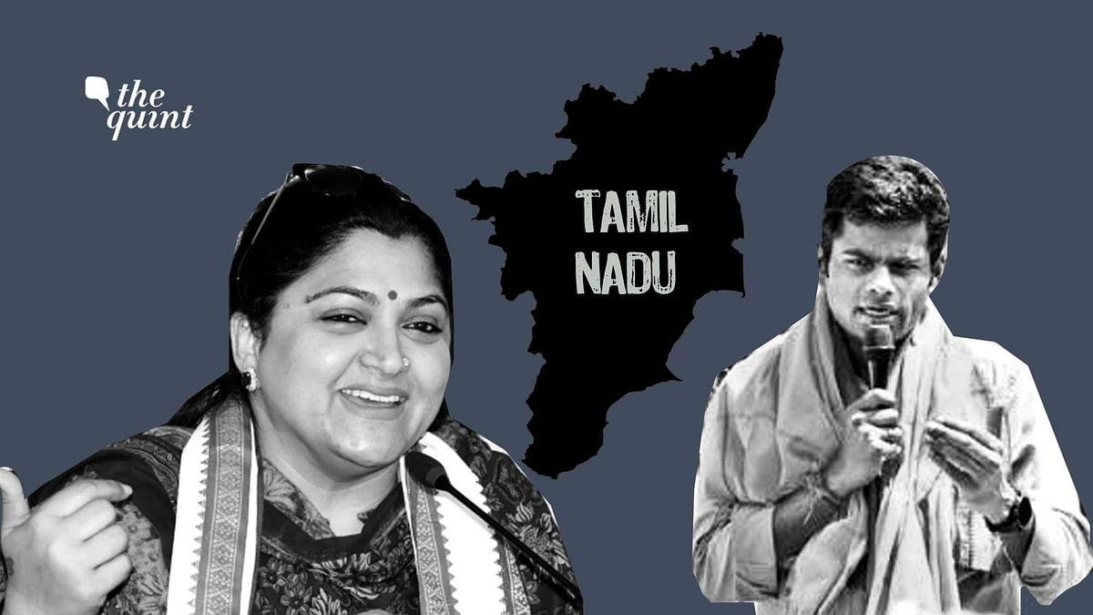 Image of Tamil actor-politician Kushboo Sundar (L) and cop-turned-politician K Annamalai (R) used for representational purposes.