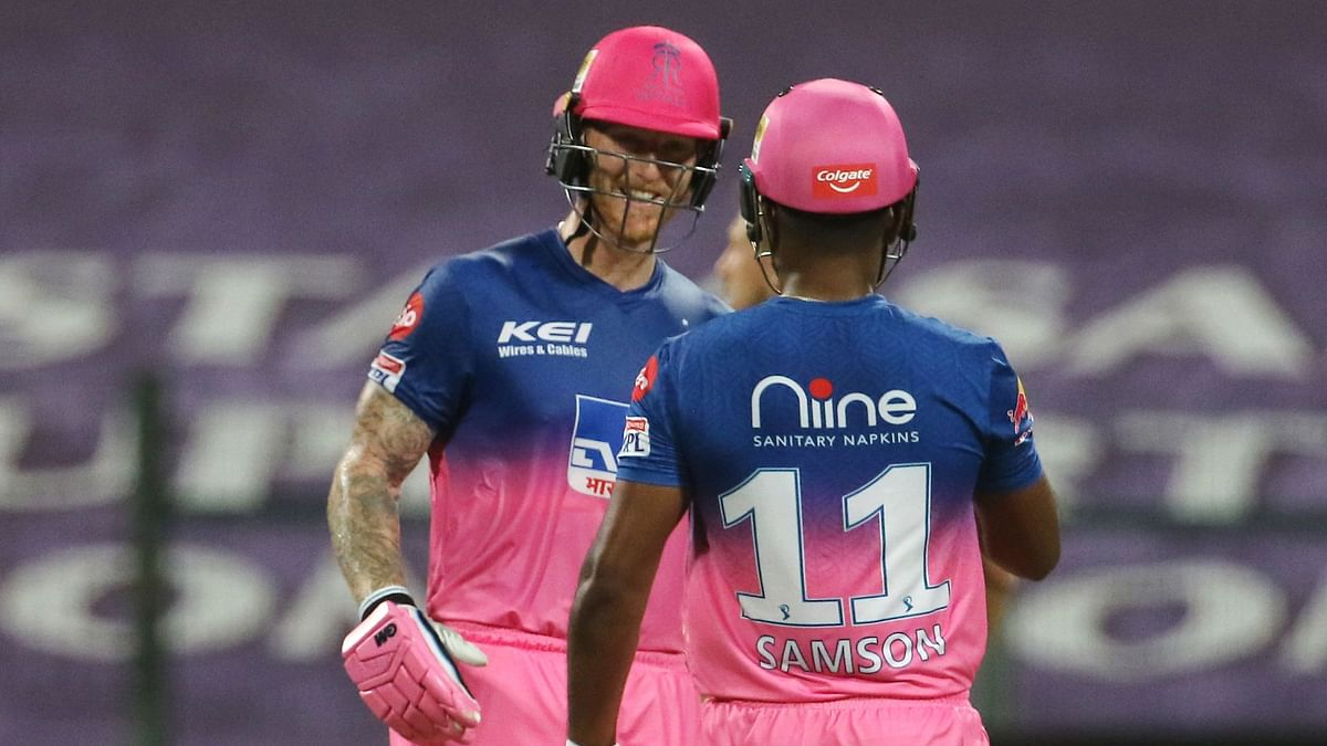Ben Stokes and Sanju Samson stitched an unbeaten 152-run partnership off just 82 balls to get their team home